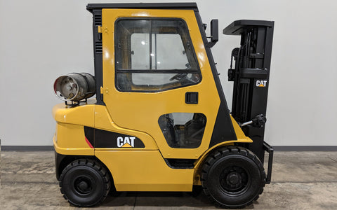 2014 CATERPILLAR 2P5000 5000LB LPG FORKLIFT PNEUMATIC 3 STAGE MAST SS
