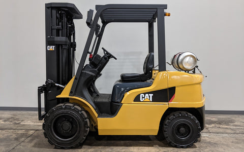 2014 CATERPILLAR 2P6000 6000LB LPG FORKLIFT PNEU TIRE 3 STAGE MAST 4 WAY