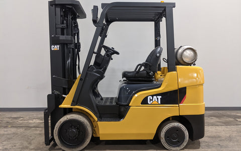 2015 CATERPILLAR 2C6000 6000LB LPG FORKLIFT CUSHION 3 STAGE MAST 4 WAY