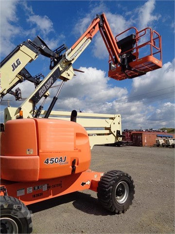 2014 JLG 450AJ ARTICULATING BOOM LIFT AERIAL LIFT WITH JIB ARM 45' 4WD