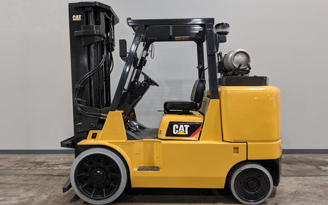 2013 CATERPILLAR GC70K 15500LB LP GAS FORKLIFT CUSHION 3 STAGE 4 WAY