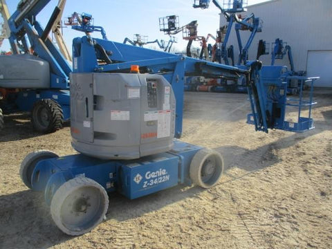 2012 GENIE Z34/22N ARTICULATING BOOM AERIAL LIFT W/JIB ARM 34' REACH ELECTRIC