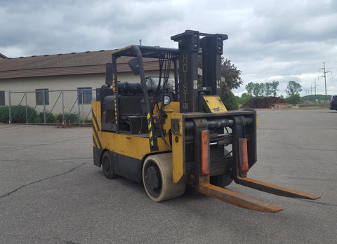 1976 HOIST FKS12 24,000LB LP GAS CUSHION FORKLIFT STD MAST SS/FP