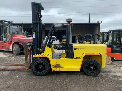 2007 HYSTER H155XL2 15500LB DIESEL FORKLIFT PNEUMATIC 2 STAGE MAST SIDE SHIFT