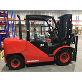 2019 HANGCHA CPCD50 10,000LB FORKLIFT DIESEL PNEUMATIC 3 STAGE MAST SIDE SHIFT