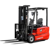 2019 HANGCHA AC6-S20 4000LB FORKLIFT ELECTRIC CUSHION 3 STAGE MAST SIDE SHIFT