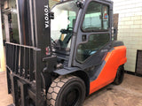 2014 TOYOTA 8FG45U 10000 LB LPG FORKLIFT PNEUMATIC 2 STAGE SS/FP