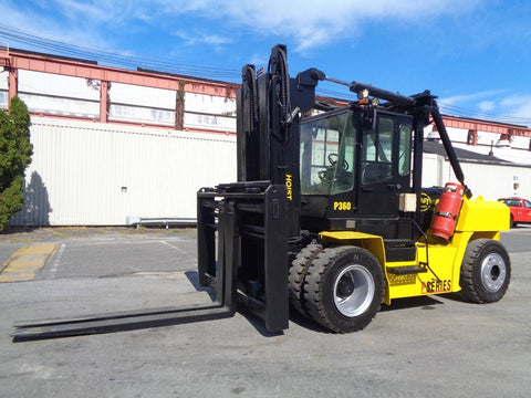 2014 HOIST P360 36000LB LP GAS FORKLIFT PNEUMATIC 2 STAGE SS/FP
