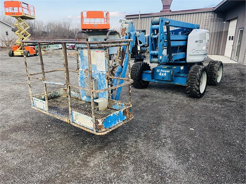2007 GENIE Z45/25 ARTICULATING ROUGH TERRAIN BOOM LIFT W/JIB ARM DUAL FUEL 4WD