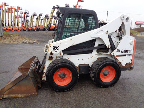2015 BOBCAT S650 WHEEL SKID STEER LOADER ENCLD CAB FOAM TIRES