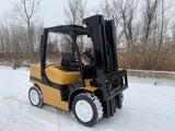 2013 YALE GDP080VX 8000LB DIESEL FORKLIFT PNEUMATIC 3 STAGE SS