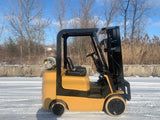 2004 CATERPILLAR  C5000LB LP GAS FORKLIFT CUSHION 3 STAGE MAST SS