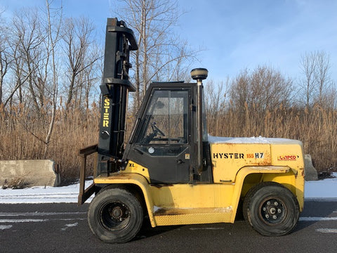 2004 HYSTER H155XL2 15500 DIESEL FORKLIFT PNEUMATIC TWO STAGE