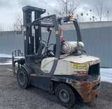 2011 CROWN C5 5000 LB LPG FORKLIFT PNEUMATIC 3 STAGE MAST ONLY 1656 HOURS