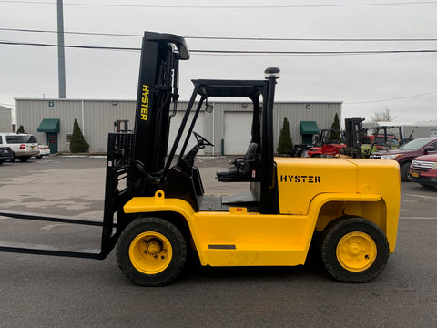 2005 HYSTER H155XL2 15500 LB DIESEL FORKLIFT PNEUMATIC 3 STAGE DUAL TIRE