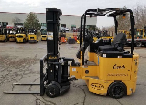 2014 BENDI B40AC 4000LB 48V ELECTRIC FORKLIFT CUSHION 3 STAGE MAST SIDE SHIFT / FORK POSITIONER