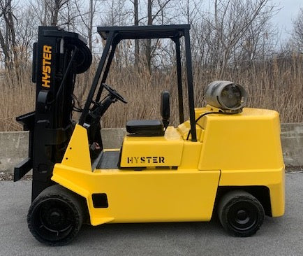 HYSTER S120XL 12,000LB LP GAS FORKLIFT CUSHION RARE 3 STAGE PLUMBED 4 WAYS