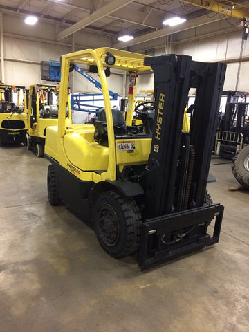 2008 HYSTER H80FT 8000LB LP GAS PNUEMATIC 3 STAGE MAST SIDE SHIFTER