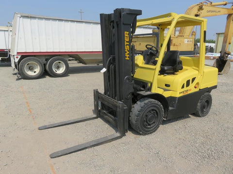 2014 HYSTER H90FT 9000 LB DIESEL PNUEMATIC 3 STAGE MAST SIDE SHIFT