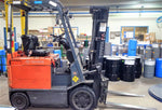 2008 TOYOTA 8FBCU25E 5000LB ELECTRIC FORKLIFT CUSHION 3 STAGE MAST SS