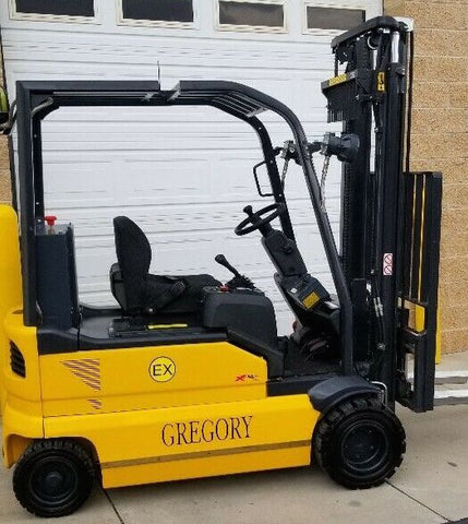 "NEW 2010 GREGORY RSC4EX 4000 LB 48 VOLT ELECTRIC FORKLIFT 135"" 2 STAGE MAST EXPLOSION PROOF"