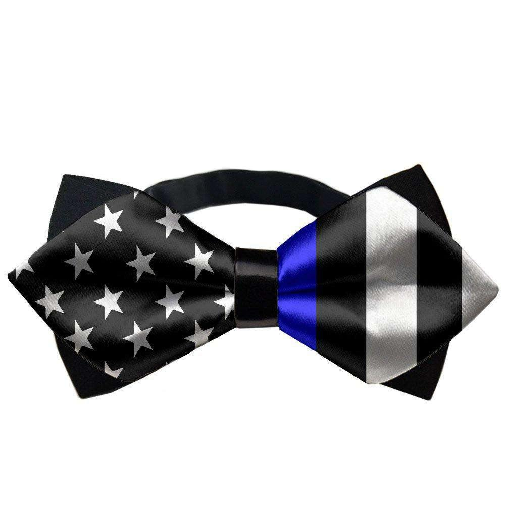 American Thin Blue Line Flag Formal Pretied Bow Tie ckwear Gift