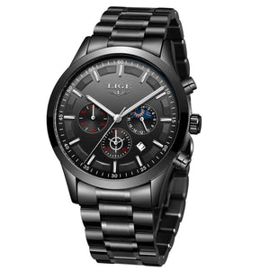 Men's Watches Casual Sports Stainless Steel Quartz Waterproof Watch with @ Sons of Odin™ - Jewelry