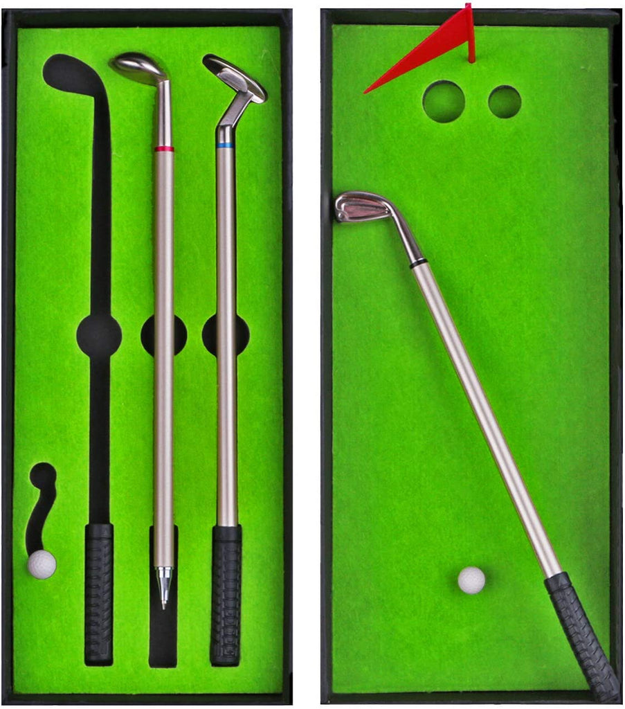Golf Club Pen Set Stocking Stuffers - Funny White Elephant Gag Gifts for Adults @ Sons of Odin™ -
