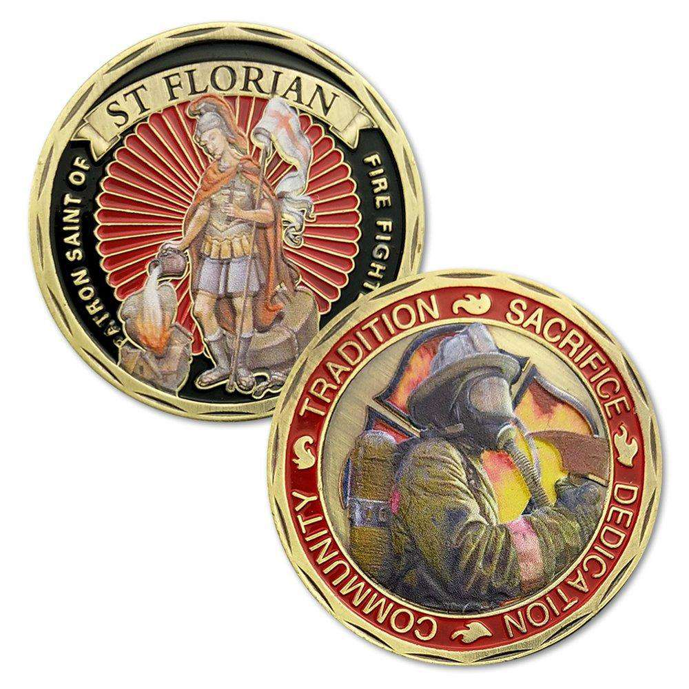 United States ST Florian Fire Fighters Challenge Coin Protect US