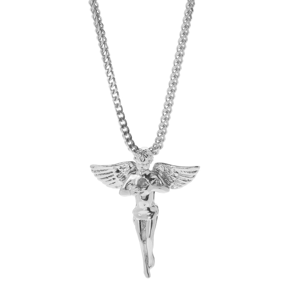Angel Pendant In Rhodium