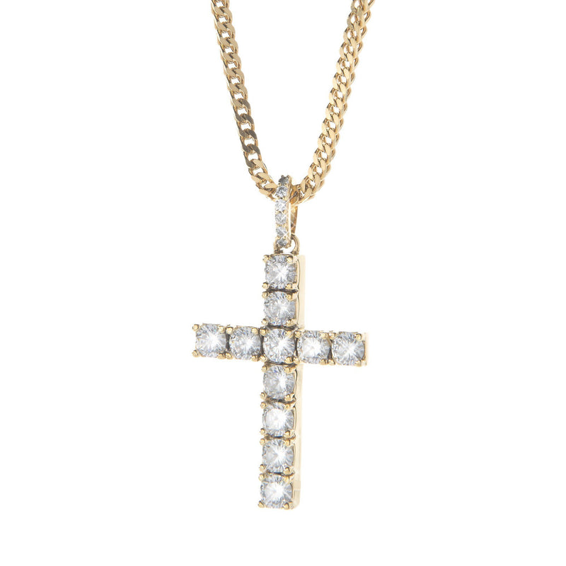 Diamond Cross Pendant in 18K Gold