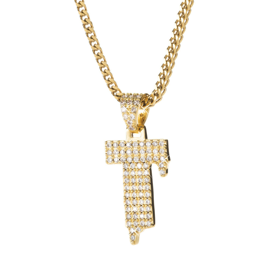 Letter T Pendant @ Sons of Odin™ - Men's Jewelry on Sale, Necklace, Earrings for Men, Cool Gifts