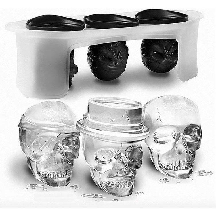 Skull Head Silicone Ice Tray Mold