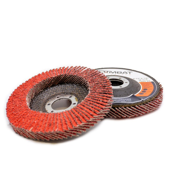 "Ceramic Shredder Flap Discs 4-1⁄2"" x 7⁄8"" (Type 29)"