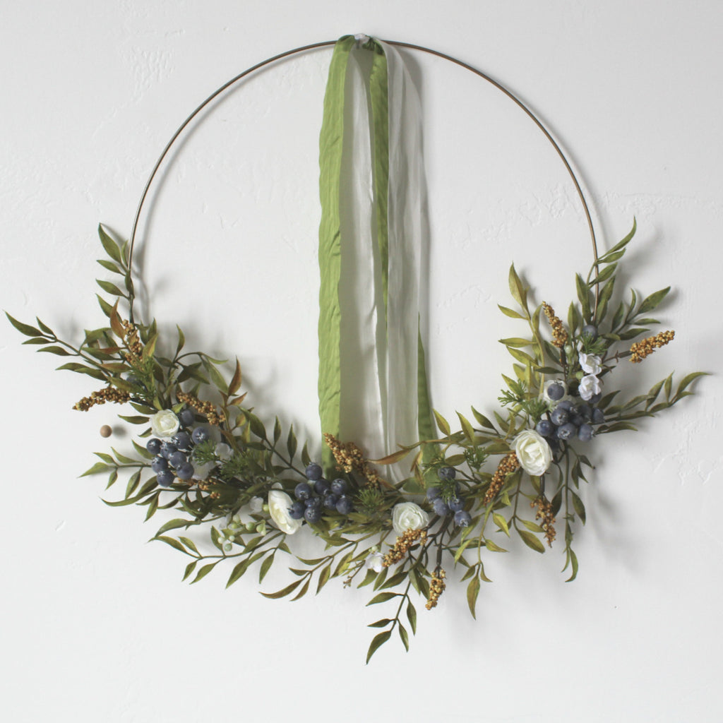 moss green silk ribbon