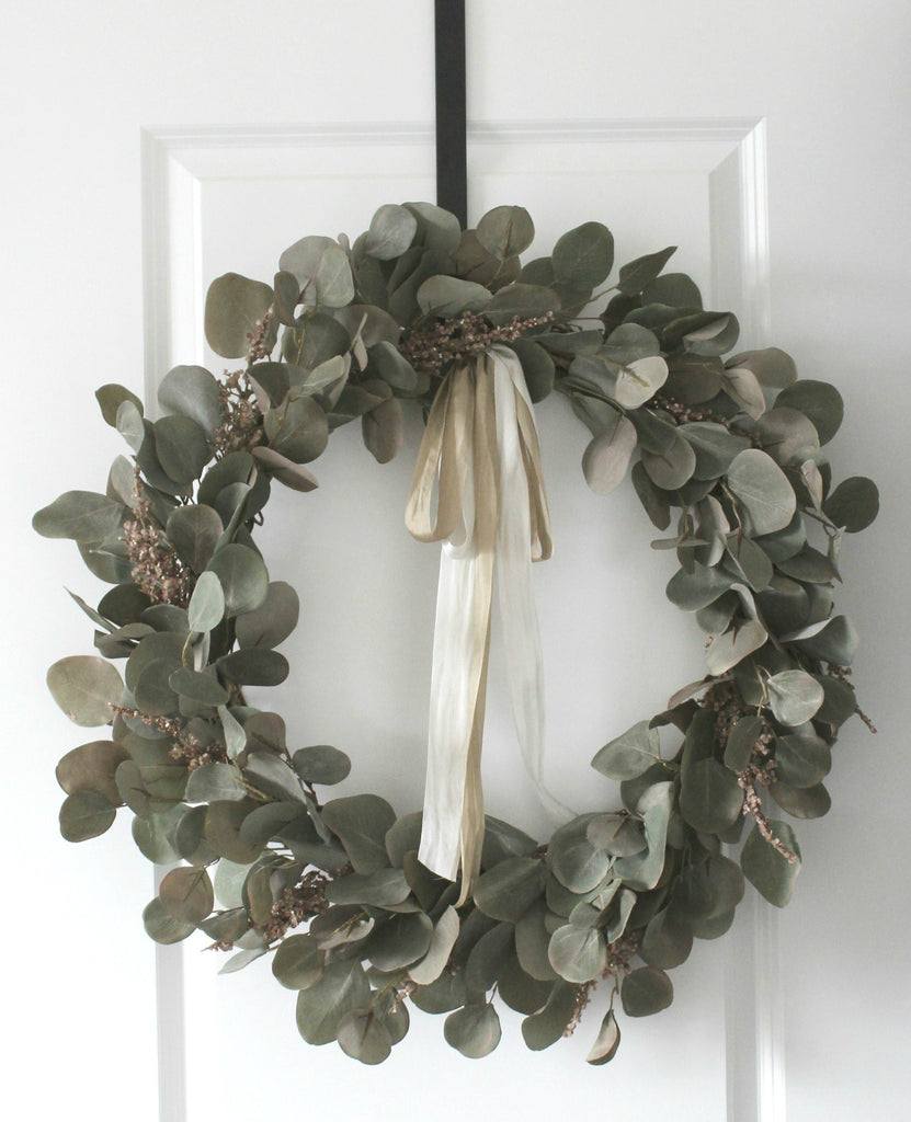 black metal wreath hanger