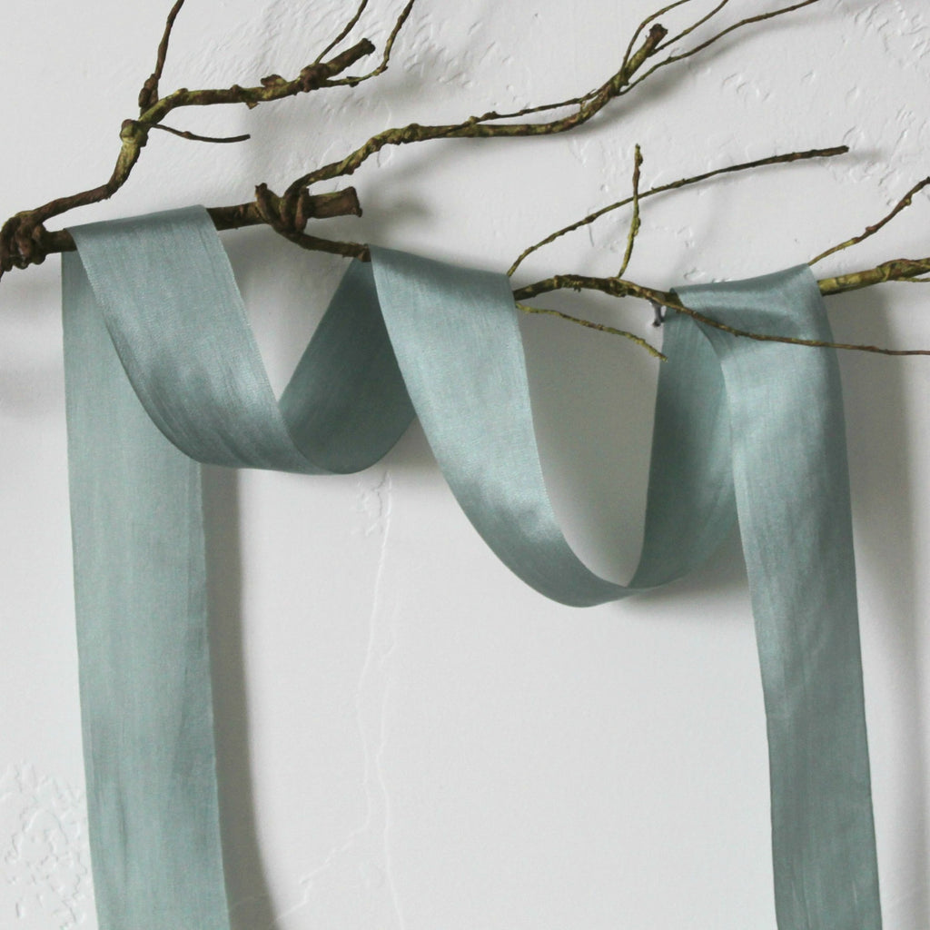 mint silk ribbon
