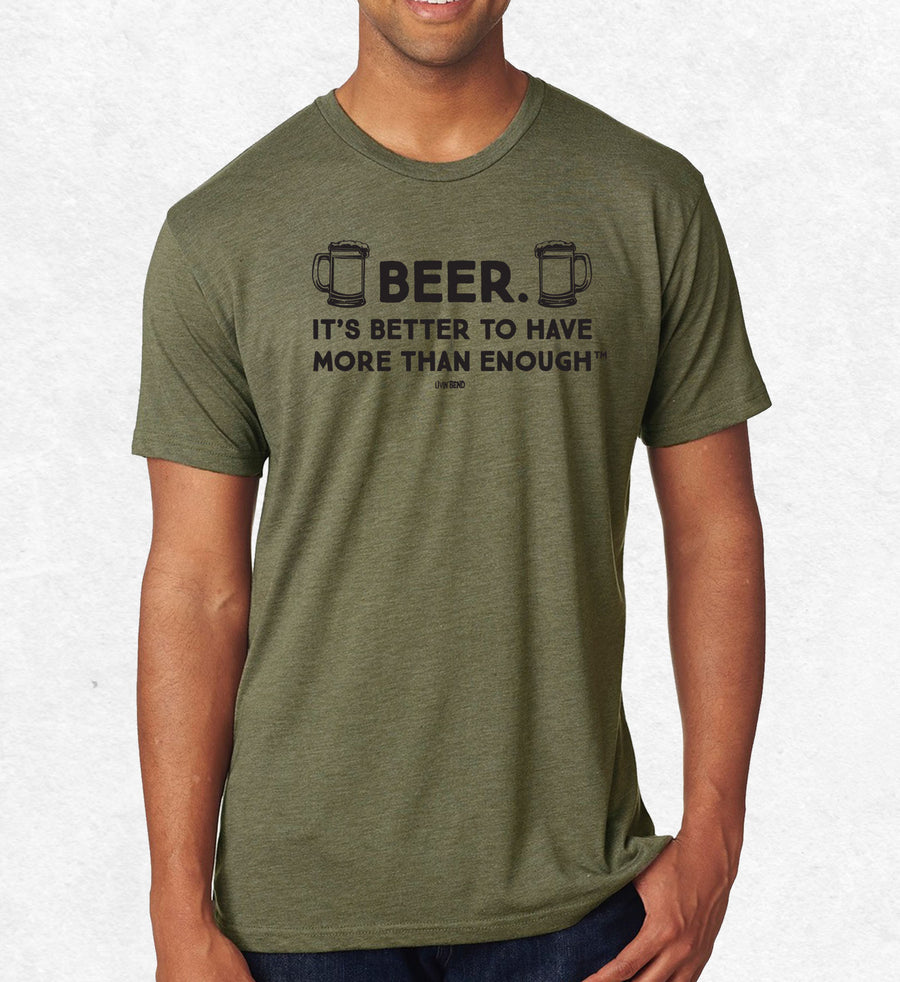 Beer. It's better to have more than enough