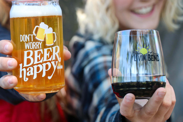 Don't Worry, Beer Happy Glass