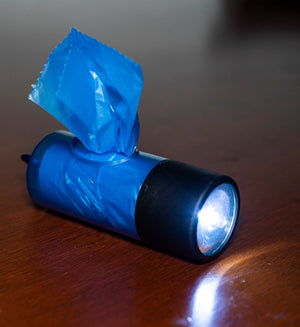 Poop Bags and Flashlight Combo