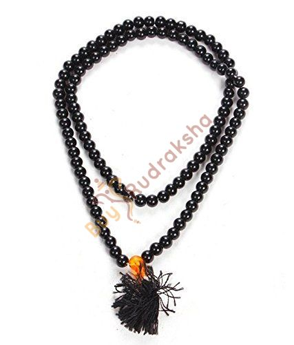 Original Black Hakik Stone Mala 8 MM