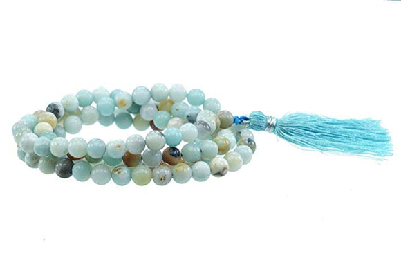 Amazonite Multi Stone Chain 8 mm for Meditation, Protection, Necklace for Unisex