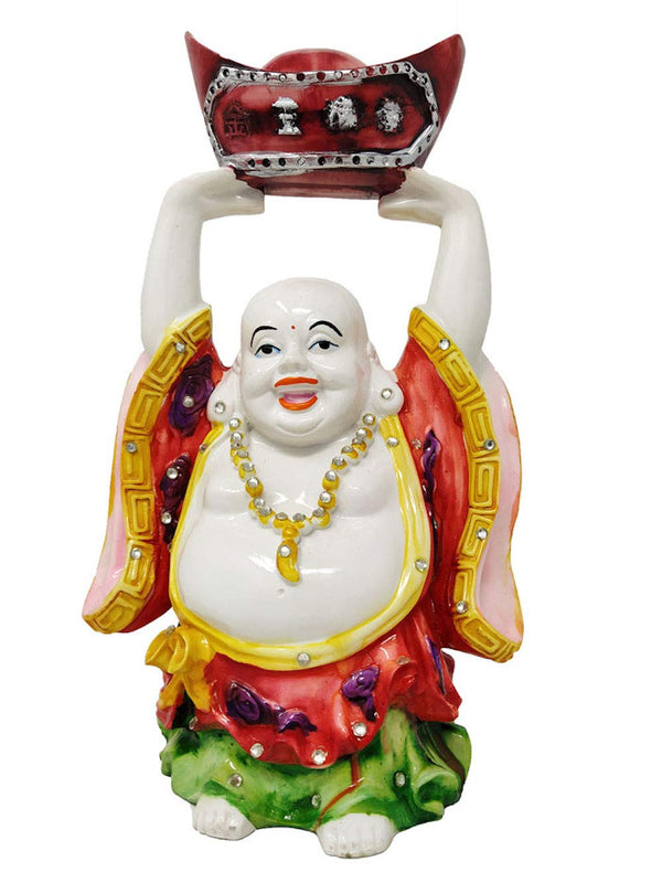31 cm Laughing Buddha Colourful Statue Figurine Home Decoration Gifts (31 cm, Multicolour)