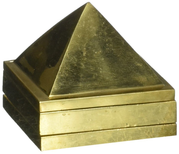 Buy Vastu Pyramid (Multi-Layered): 91 Pyramids Engraved inside - Brass