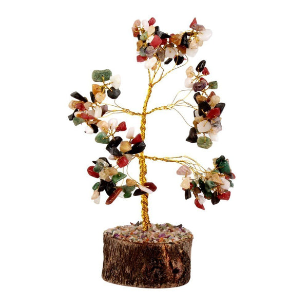 Fengshui Multi Gem Stone Good Luck Tree - Home Decoration and Gifting