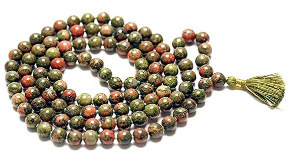 Spiritual Unakite Stone Chain 8 mm for Meditation, Protection, Necklace for Unisex
