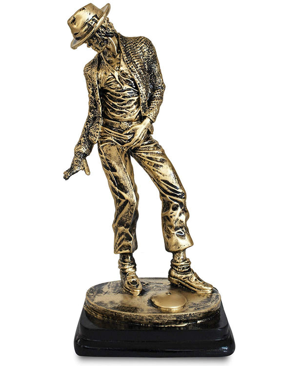 Michael Jackson Dance Hand Crafted Statue Figurine Antique Home Decor Gifts- 12.5 inches (Antique Golden)