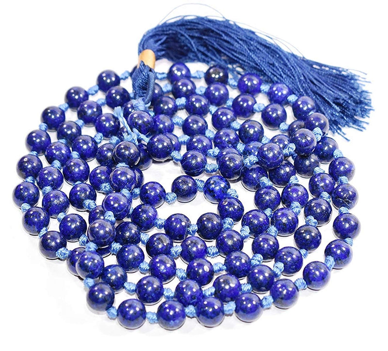 Buy Lapis Lazuli Original Chain 8 mm for Good Luck & Fortune Unisex Online at Best Price