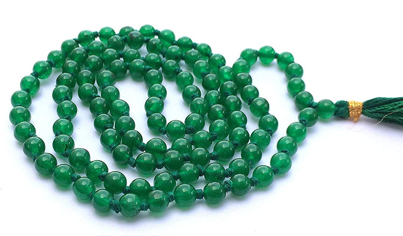 Buy Green JADE Original Chain 8 mm for Good Luck & Fortune Unisex Online at Best Price
