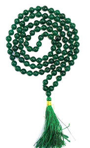 Original Green Hakik Agate Stone Mala 8 MM